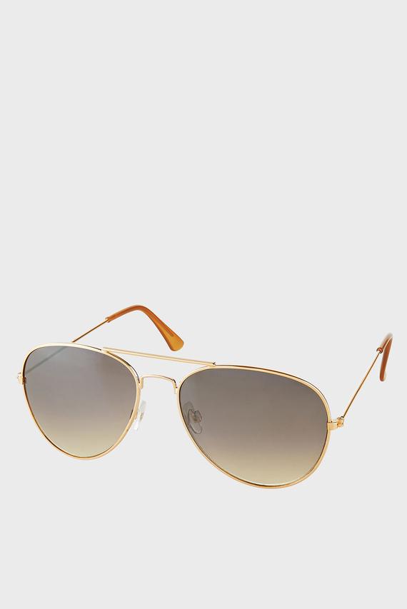 Женские золотистые солнцезащитные очки