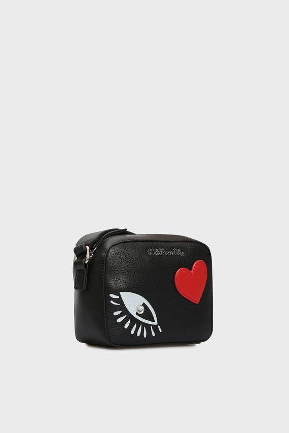 Женская черная сумка через плечо LOVE-LIVE