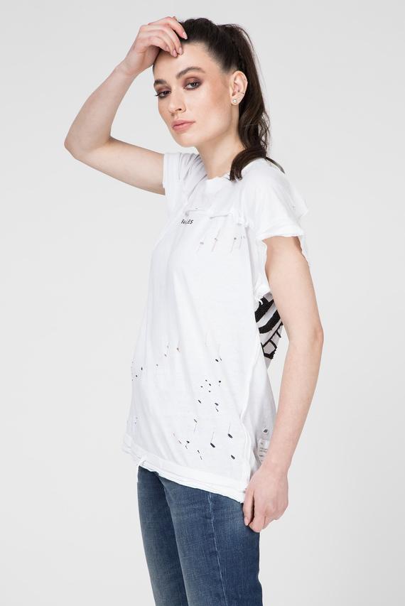 Женская белая футболка T-JAIDA