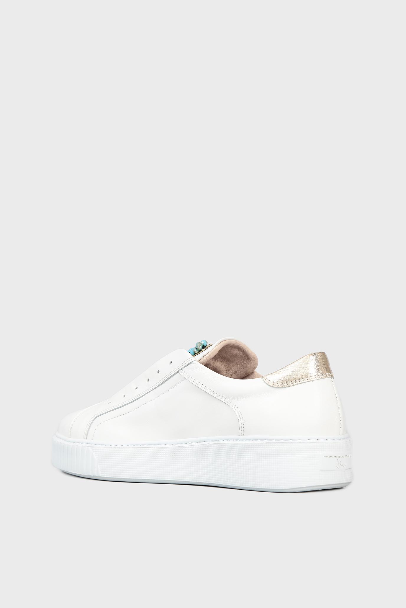 Купить Женские белые кожаные сникеры Tosca Blu  Tosca Blu  SS1807S122 – Киев, Украина. Цены в интернет магазине MD Fashion
