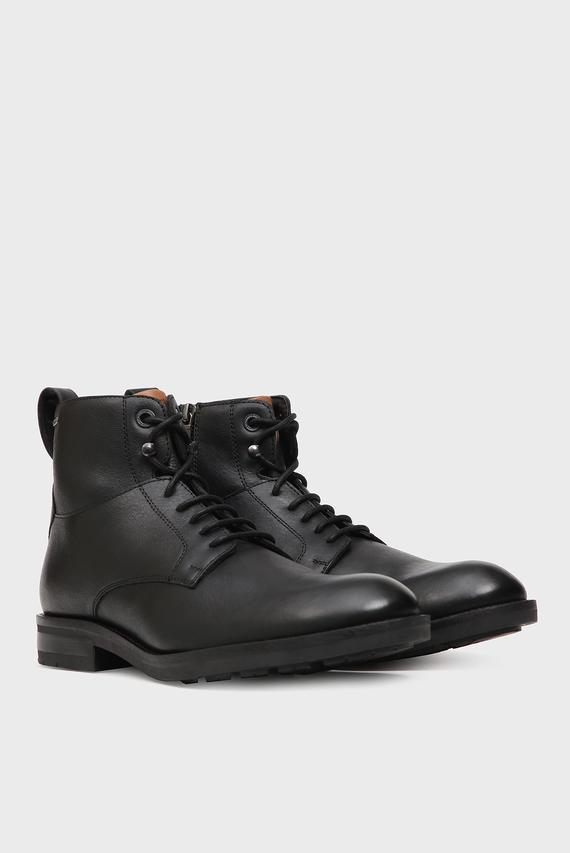 Мужские черные кожаные ботинки GOTAM
