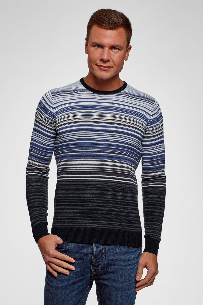 f779d7cd10060 Купить Мужской белый пуловер Oodji Oodji 4L212169M/25255N/1200N ...