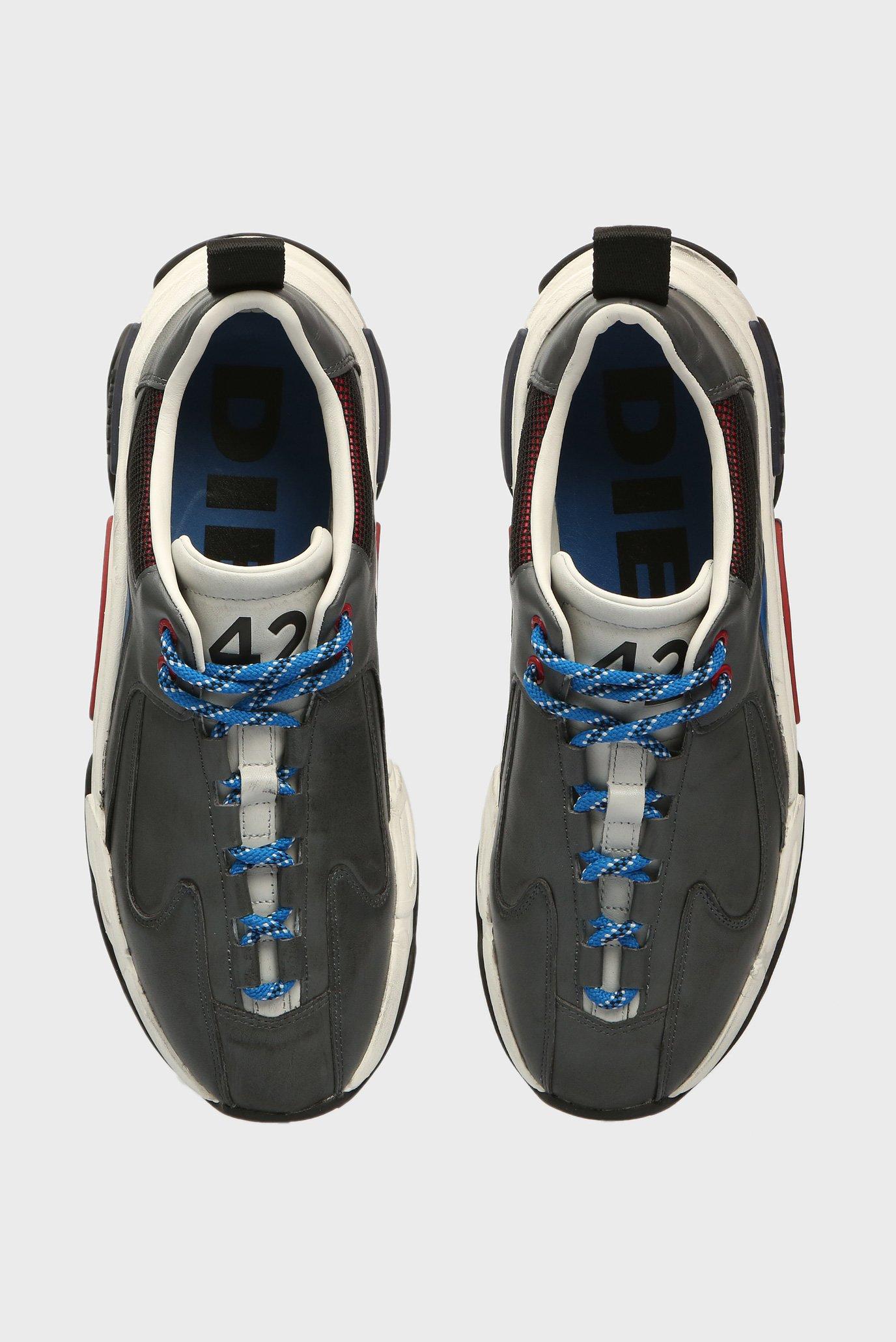 Купить Мужские серые кожаные кроссовки SKIPPER Diesel Diesel Y01826 PR013 – Киев, Украина. Цены в интернет магазине MD Fashion
