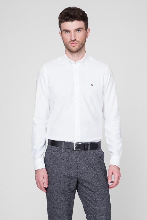 Мужская белая рубашка SLIM CLASSIC DOBBY