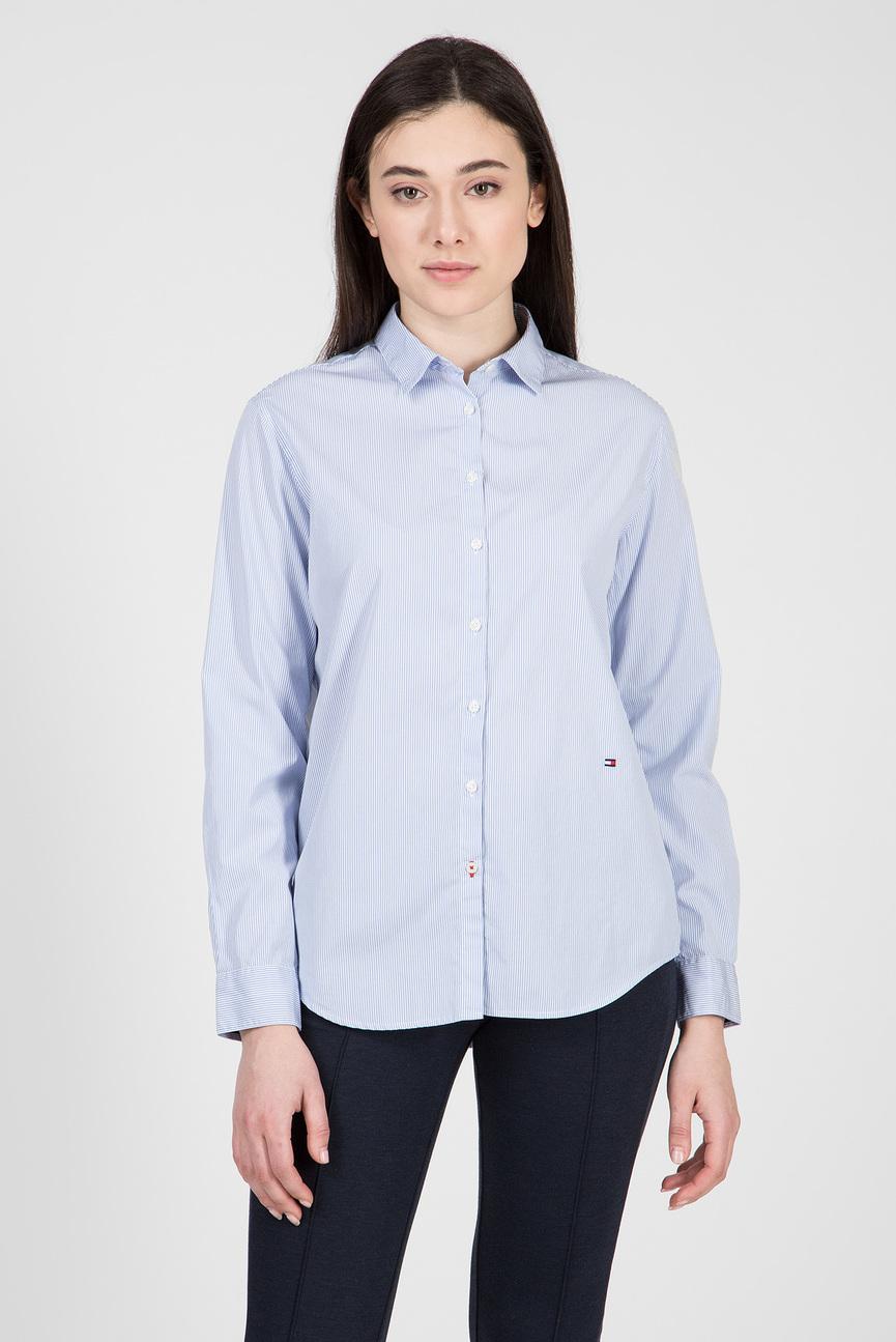 Женская голубая рубашка в полоску MONICA