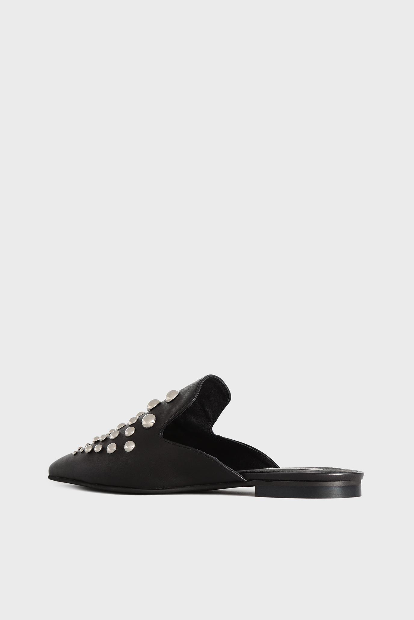 Купить Женские черные кожаные мюли Tosca Blu  Tosca Blu  SS1802S026 – Киев, Украина. Цены в интернет магазине MD Fashion