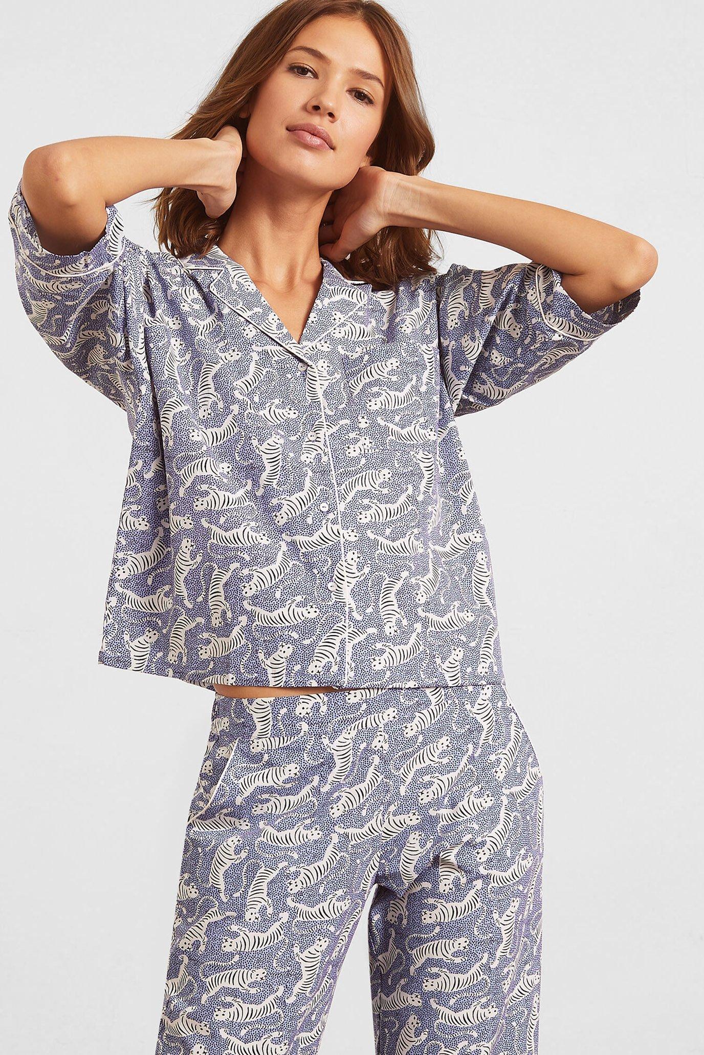 Женская голубая рубашка короткий рукав BANGALI 1