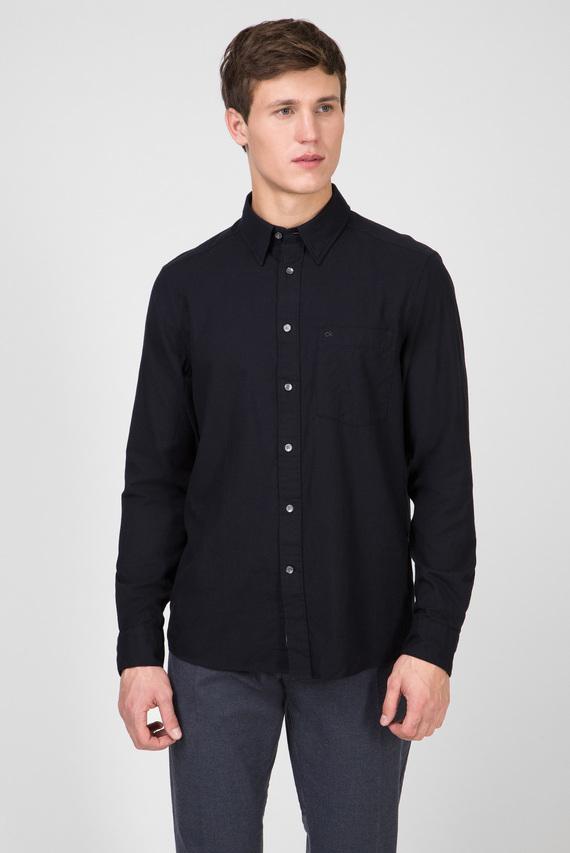 Мужская черная рубашка BRUSHED TWILL