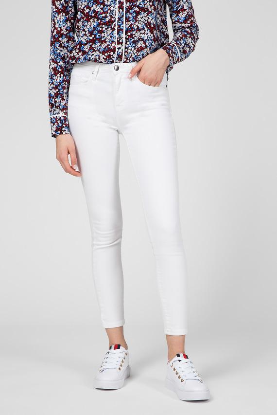 Женские белые джинсы COMO SKINNY