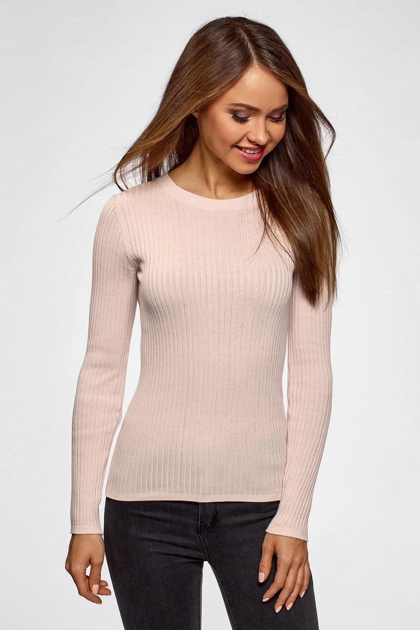 Женский розовый пуловер
