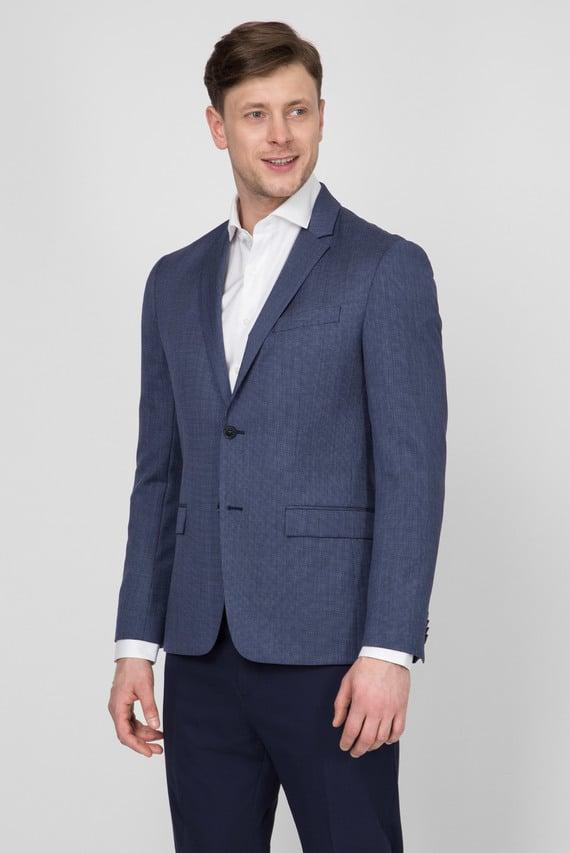 Мужской синий пиджак MICROGRID
