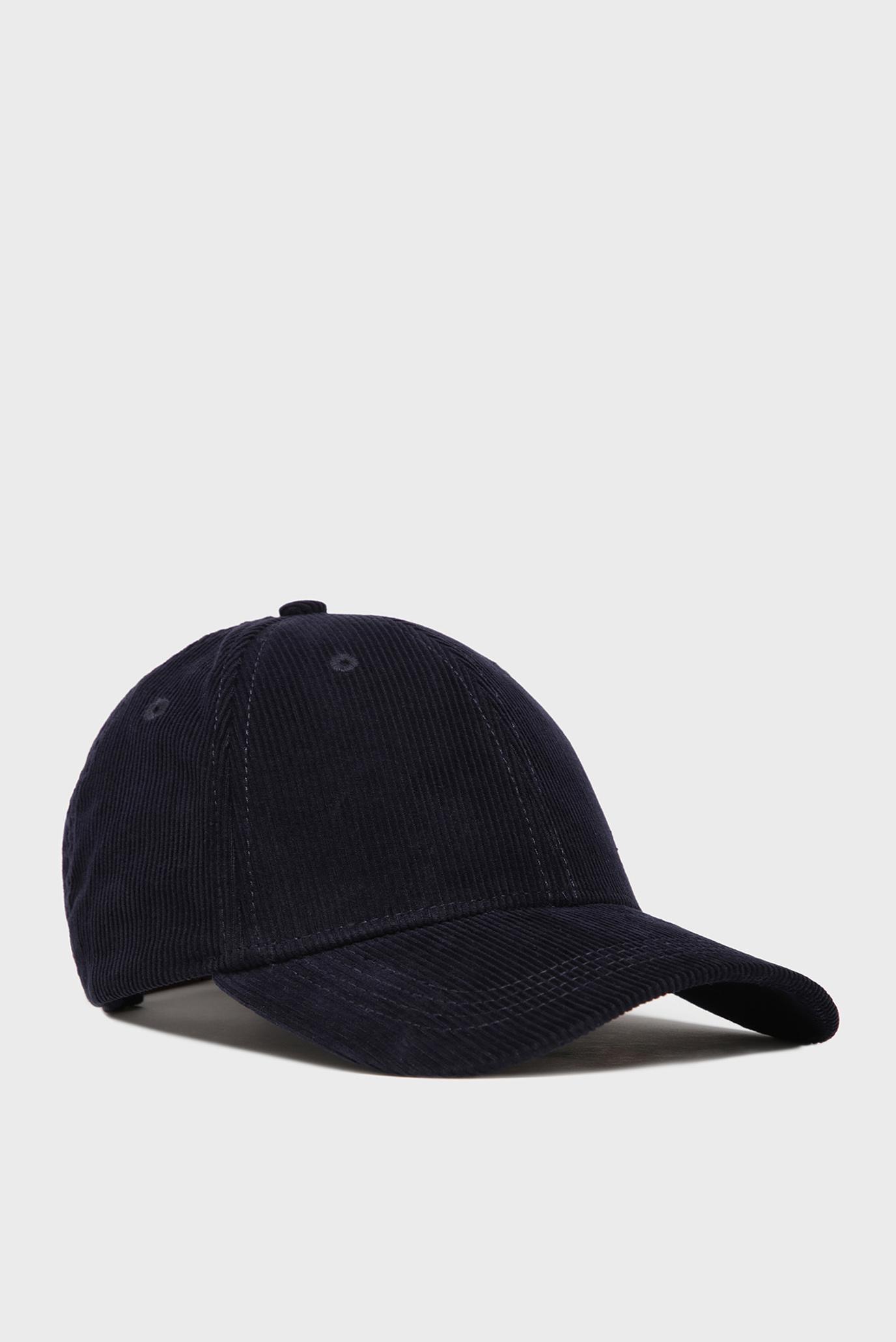 Мужская темно-синяя вельветовая кепка D1. CORDUROY Gant