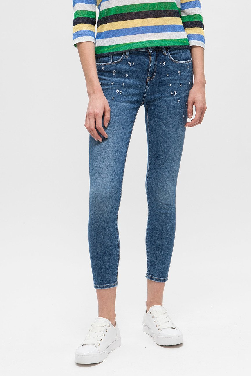 Женские голубые джинсы COMO RW CROPPED ISA
