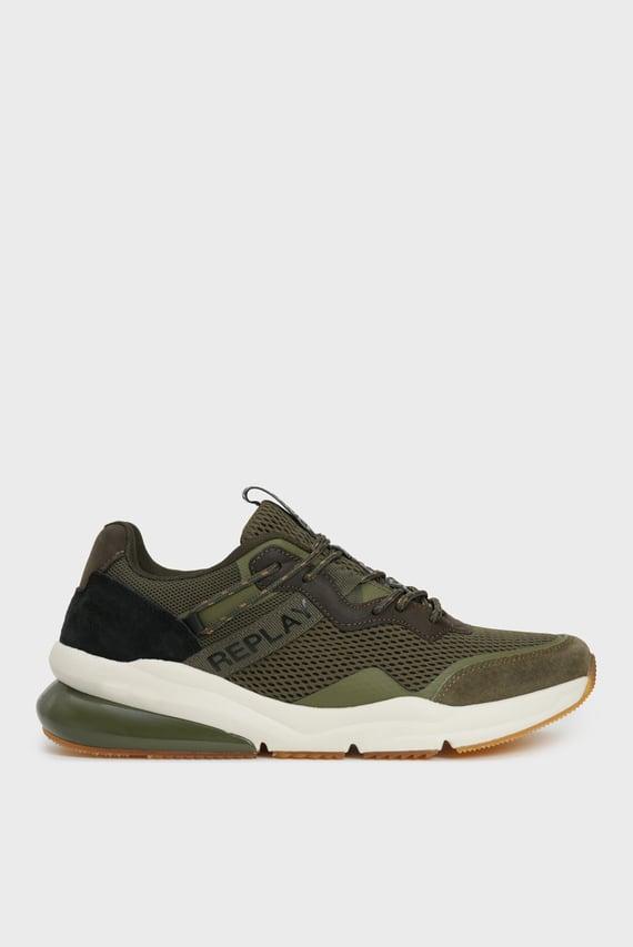 Мужские зеленые кроссовки BLINMAN