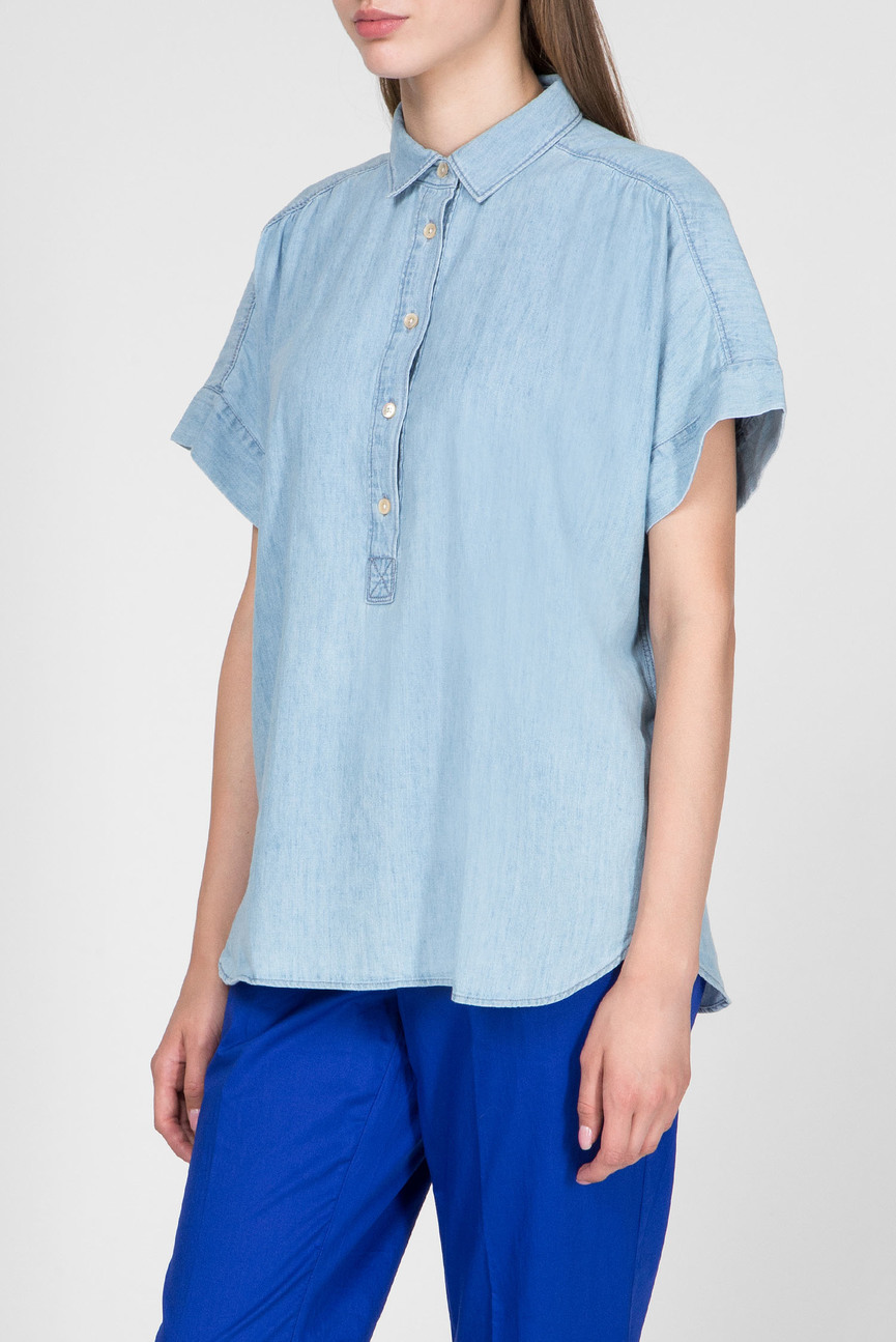 Женская голубая рубашка HEIDI