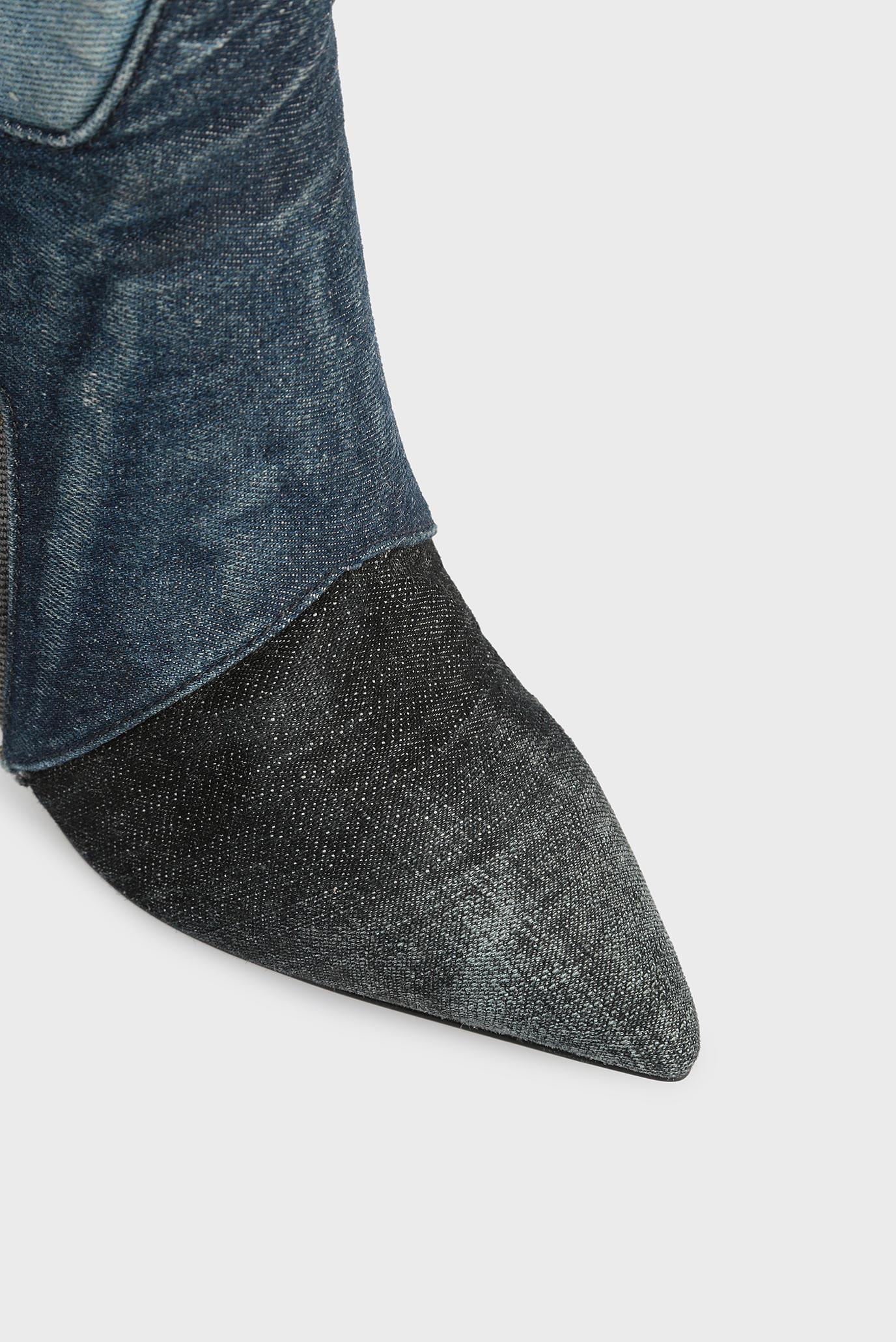 ae4700504 Купить Женские синие джинсовые ботинки Diesel Diesel Y01351 P0954 – Киев,  Украина. Цены в интернет магазине MD Fashion