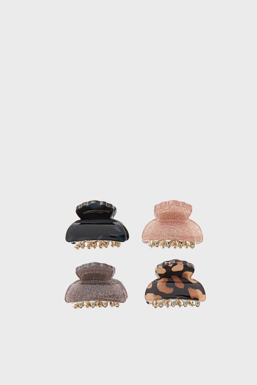 Набор заколок для волос (4 шт) MINI SHIMMER BULL