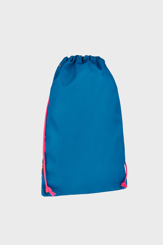 Детский синий рюкзак Floral Leopard Draws