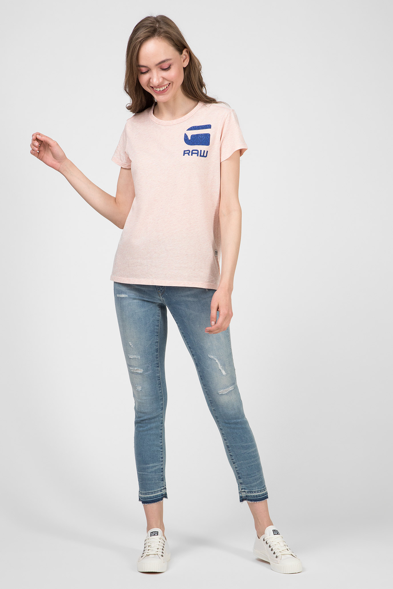 Жіночі блакитні джинси 3301 High Skinny G-Star RAW