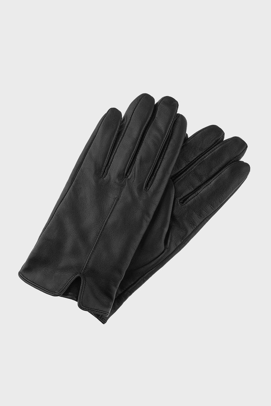 Женские черные кожаные перчатки BASIC