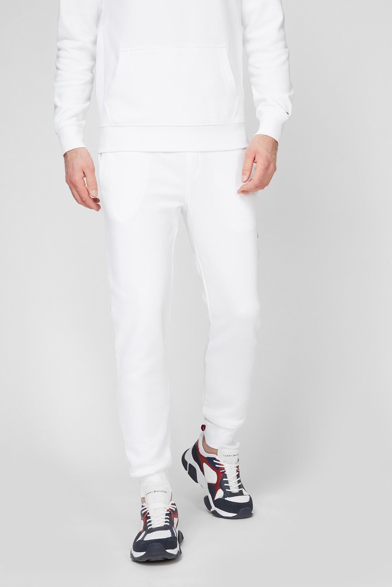 Мужские белые спортивные брюки ESSENTIAL TOMMY SWEATPANTS 1