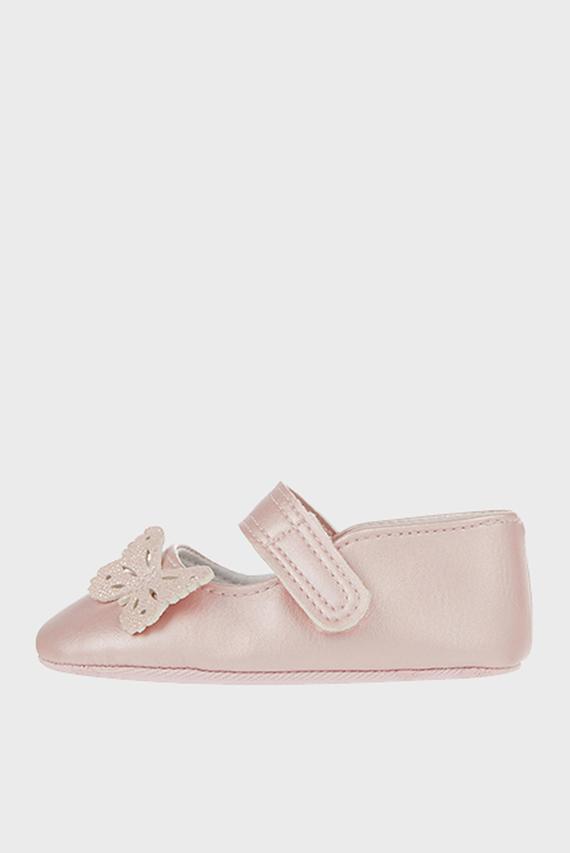 Детские розовые балетки Butterfly boots