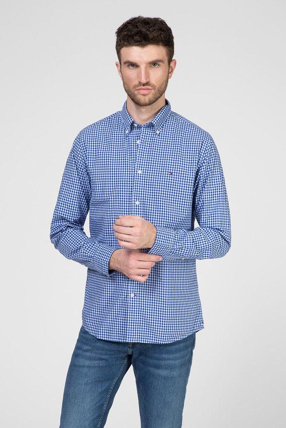 Мужская синяя рубашка в клетку WCC CLASSIC GINGHAM