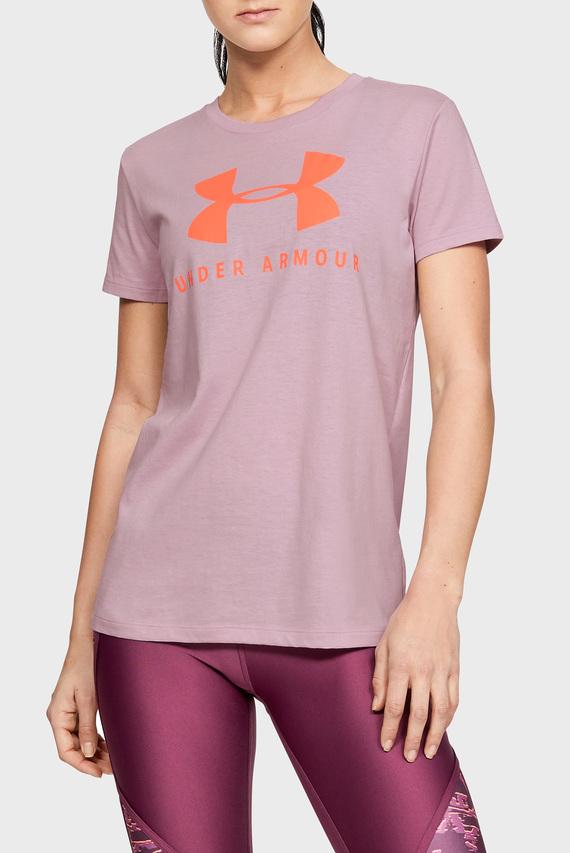 Женская розовая футболка GRAPHIC SPORTSTYLE CLASSIC CREW