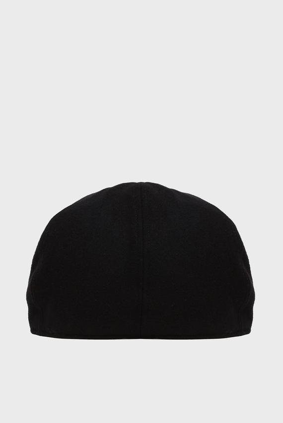 Мужское черное шерстяное кепи FLAT