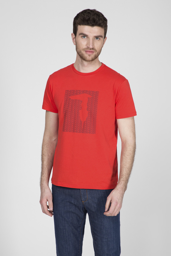 Мужская красная футболка REGULAR FIT