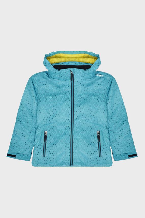 Детская голубая лыжная куртка