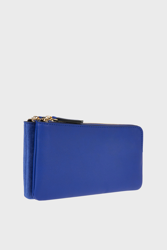 Женская синяя сумка через плечо DOUBLE ZIP CROSSBODY