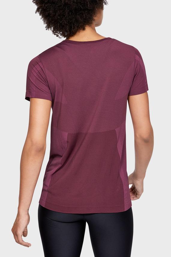 Женская фиолетовая футболка UA Vanish Seamless SS