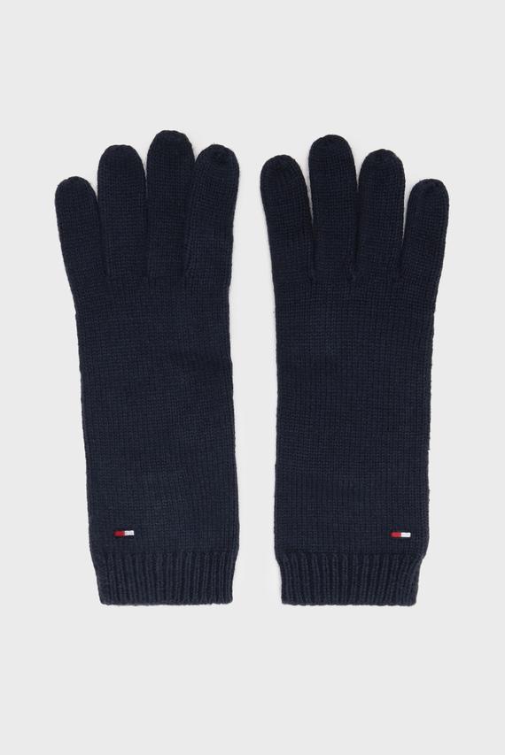 Женские синие перчатки FLAG KNIT