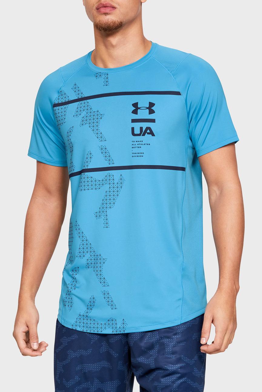 Мужская голубая футболка MK1 SS Q2 Printed