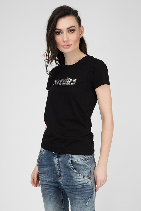 Женская черная футболка T-SUPERY