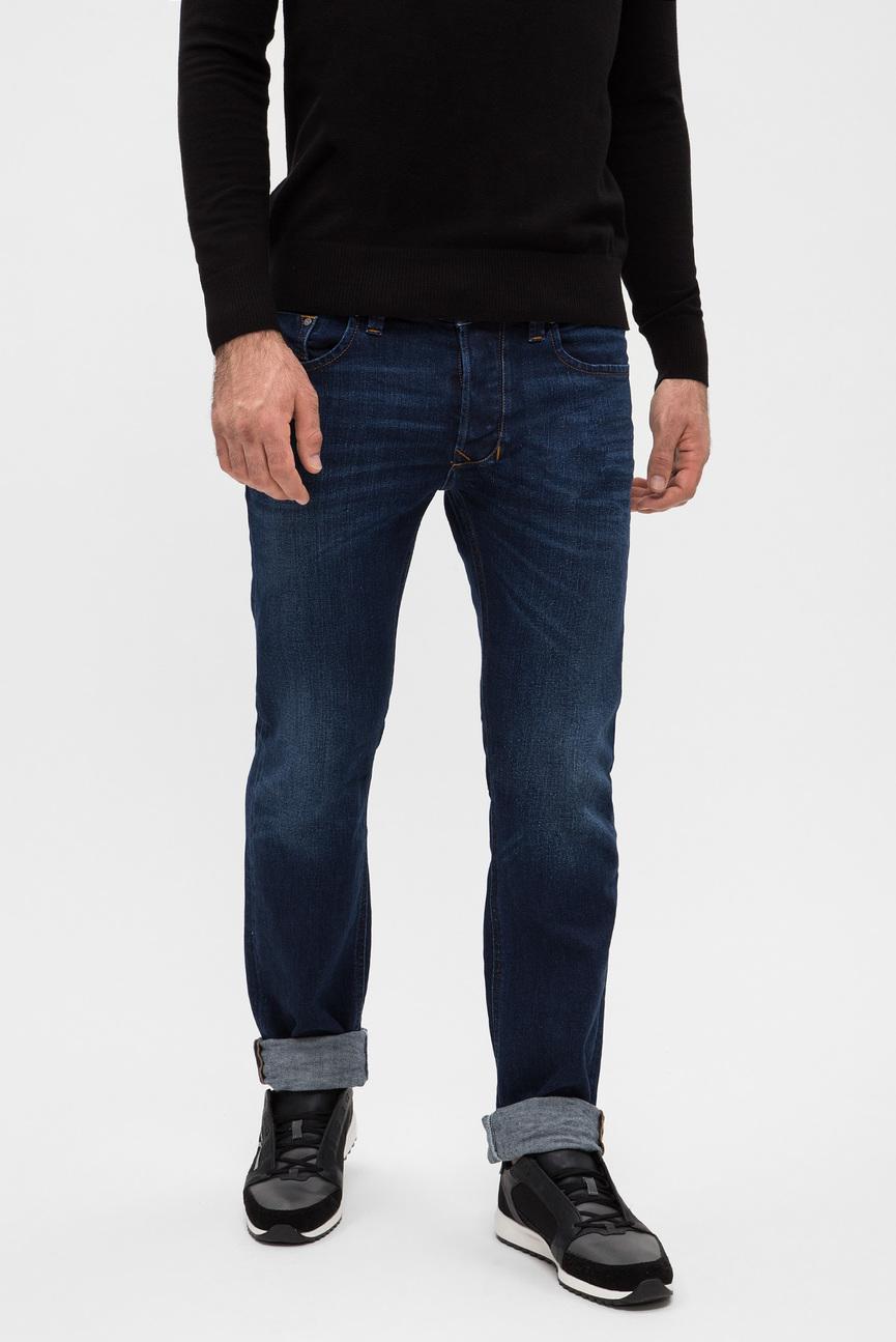 Мужские темно-синие джинсы LARKEE