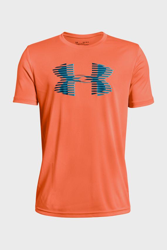 Детская оранжевая футболка Tech Big Logo Solid Tee