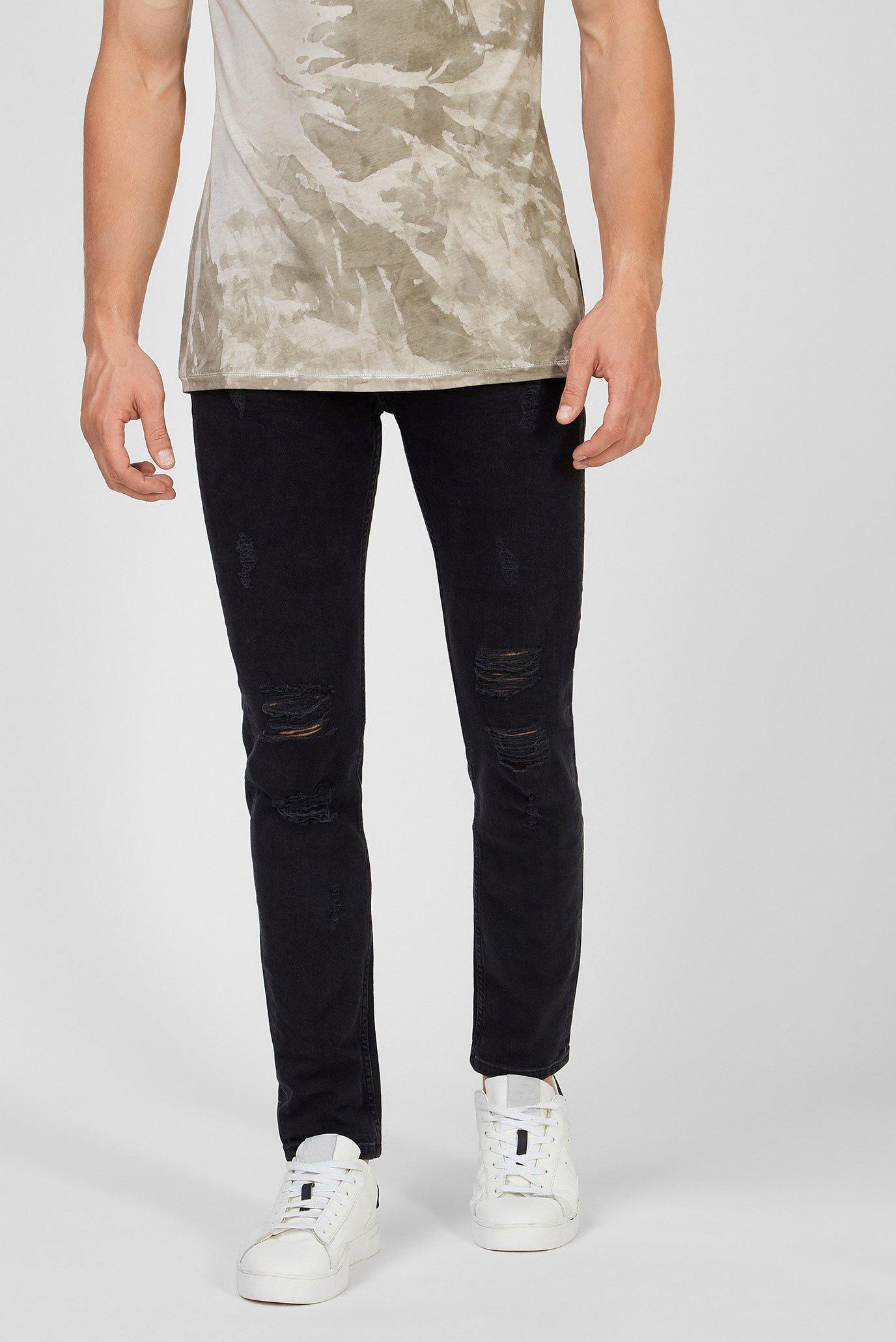 Мужские черные джинсы Morten Tigha