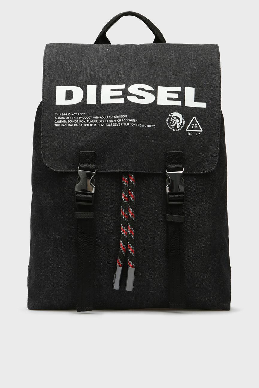 Мужской черный джинсовый рюкзак VOLPAGO
