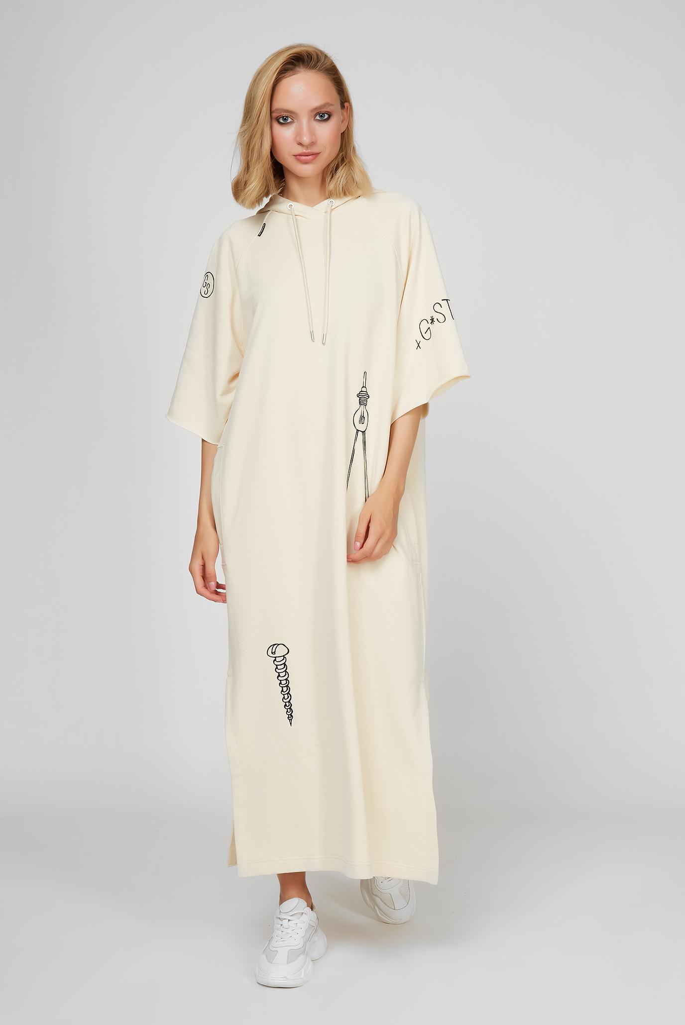 Жіноча бежева сукня 1
