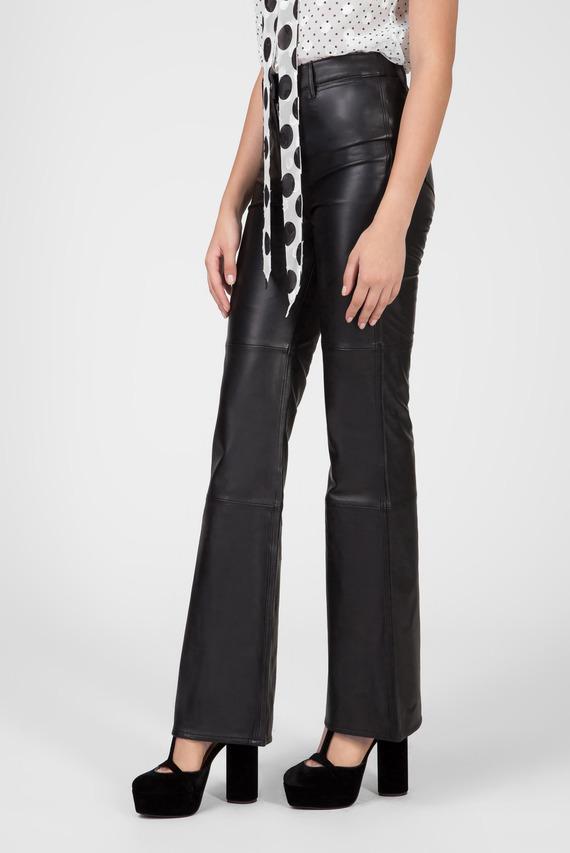 Женские черные кожаные брюки ZENDAYA