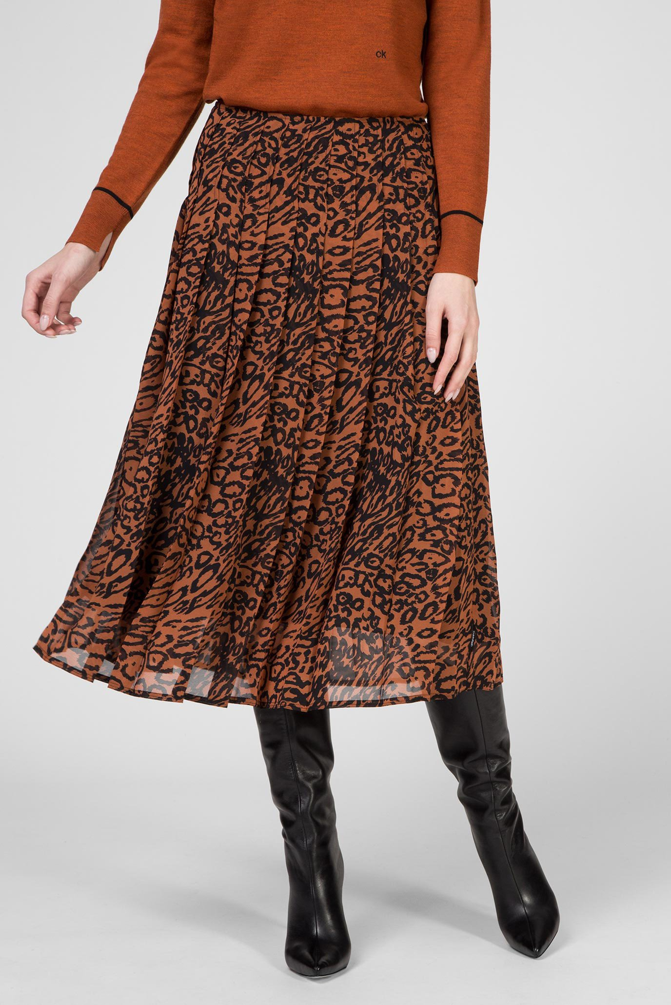 Женская леопардовая юбка Calvin Klein