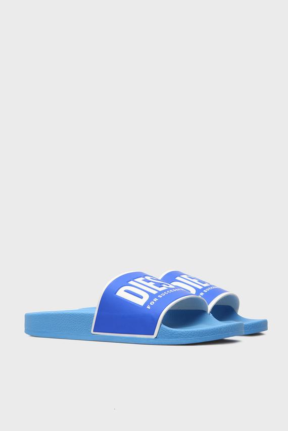 Мужские синие слайдеры VALLA