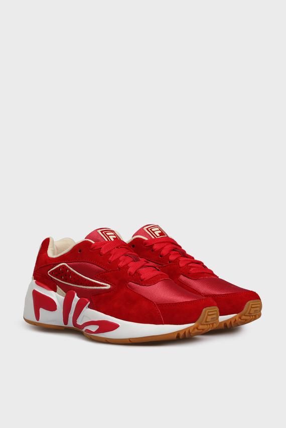 Женские красные замшевые кроссовки MINDBLOWER