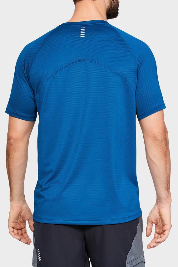Мужская синяя футболка UA QUALIFIER GLARE SHORTSLEEVE-GRN