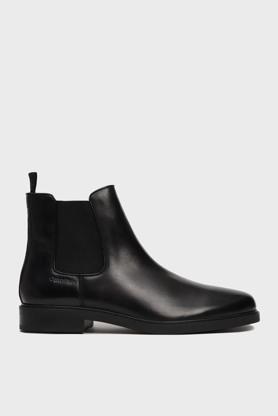 Мужские черные кожаные челси FINTAN