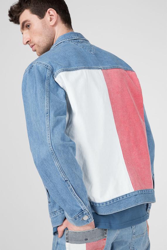 Мужская голубая джинсовая куртка OVERSIZE TRUCKER