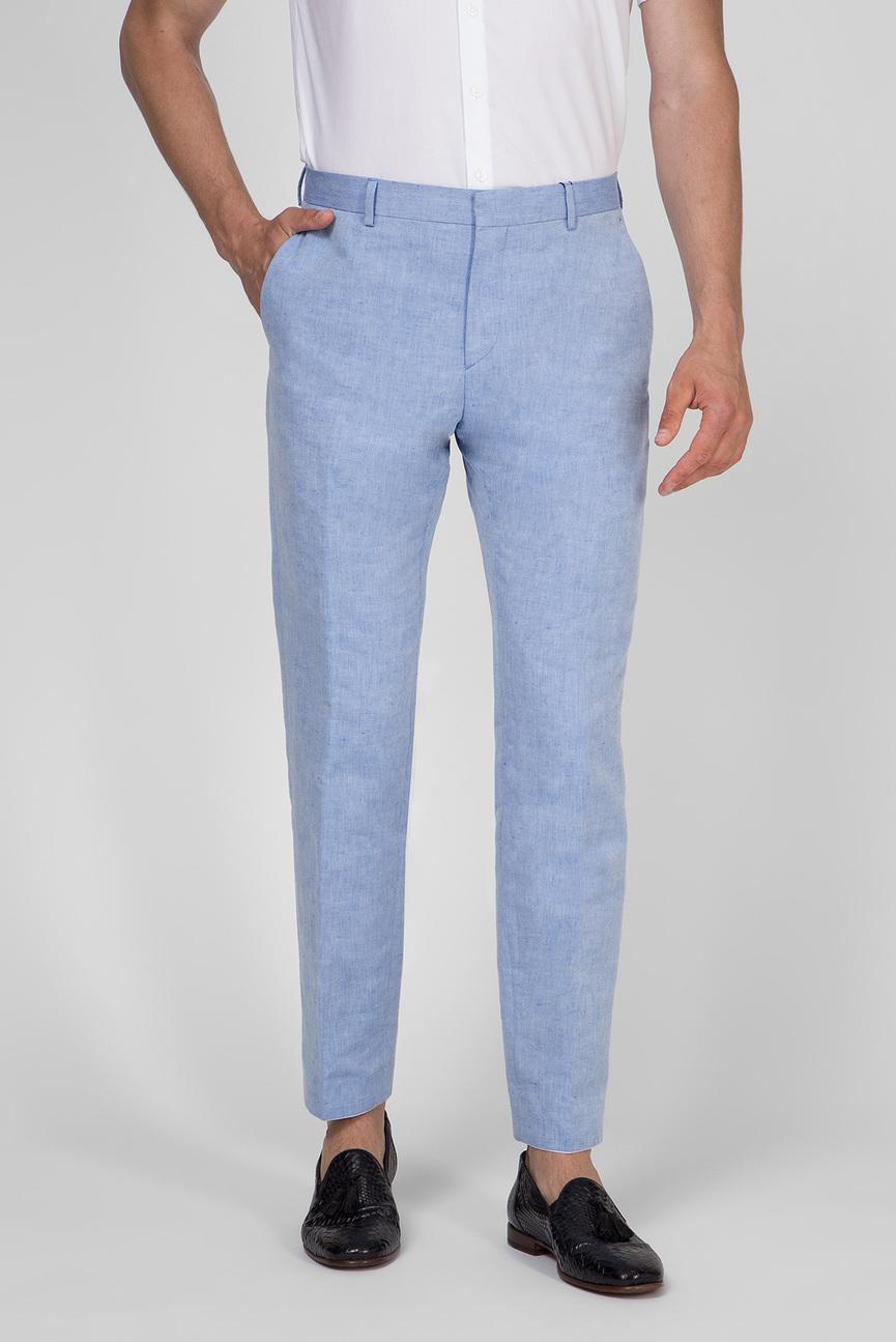 Мужские голубые льняные брюки LINEN CHAMBRAY PANT