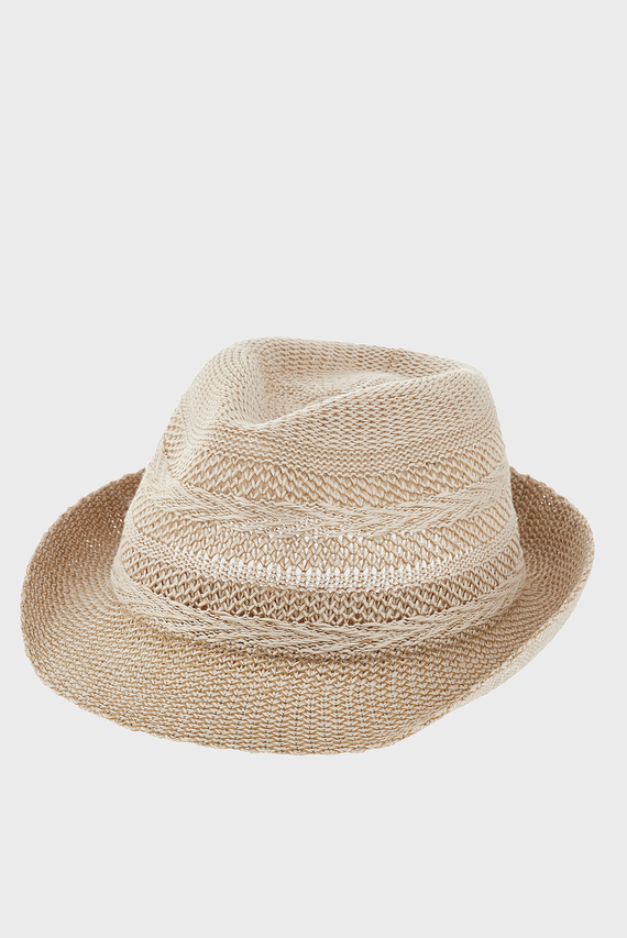 Женская бежевая шляпа CHEVRON PACKABLE TRI